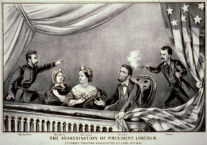 Currier and Ives depiction of that fateful moment.