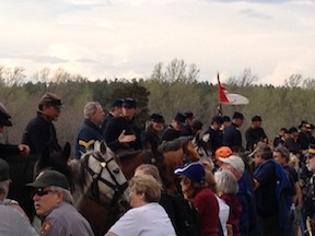 A reenactment of the cavalry demonstration drew a big crowd.