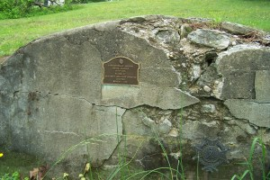 Grayson Tomb before restoration