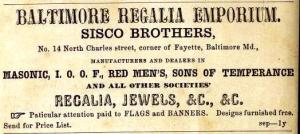 """Sisco Brothers advertisement in the October 1868 """"Southern Planter and Farmer""""."""