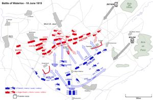 The Battle of Waterloo, June 18, 1815.