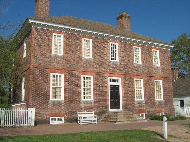 George Wythe House in Colonial Williamsburg (Courtesy of Waymarking.com)