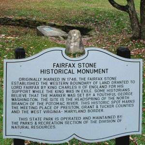 Historic Marker at the Fairfax Stone