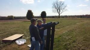 Civil War Trails Director Drew Gruber, Historian Clark