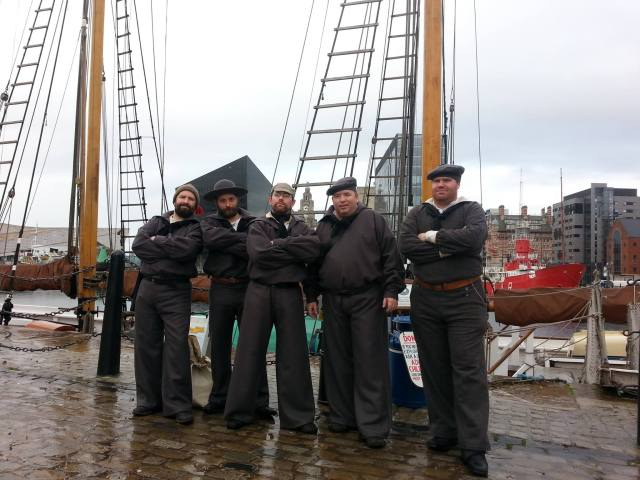 Members of the Liberty Volunteers living history society (UK) portraying crew of the CSS Shenandoah in Liverpool