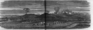 Edwin Forbes sketch of the V Corps skirmish line.