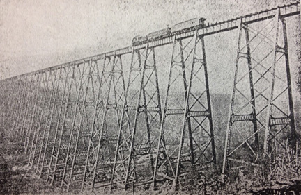 A photo of the Kinzua Viadcut reportedly taken during Grant's excursion (photo courtesy of the McKean County Historical Society)