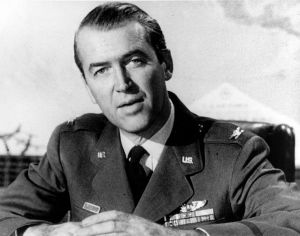Jimmy Stewart served as a pilot during World War II. During the Cold War, he continued to serve the U.S. Air Force.