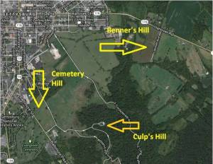 Benners Hill Map