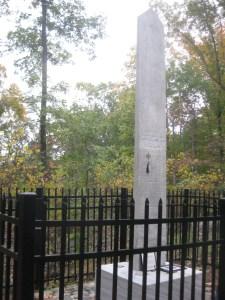 Monument for Leonidas Polk on Pine Mountain.