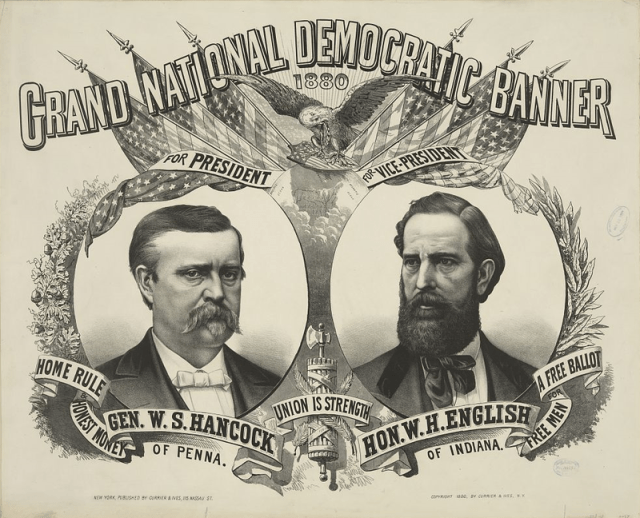 1880 Democrat Campaign Poster (W.S. Hancock is on the left)