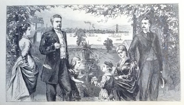 "Winfield S. Hancock & Family (Illustration from ""Life of Hancock"" published in the 1880's)"