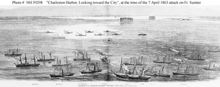 Federal fleet in Charleston Harbor.
