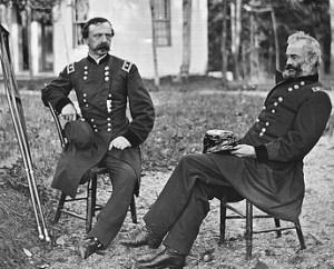 Two former 3rd Corps commander. Dan Sickle (sans leg) and Samuel Heintzelman.
