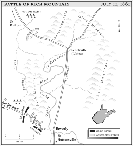 Maps of Laurel Hill and Rich Mountain