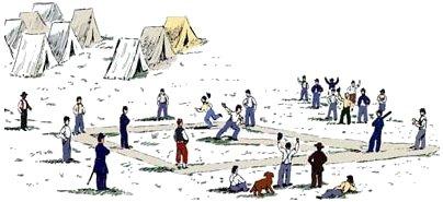 Civil War Baseball Sketch
