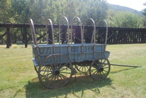A standard U.S. Army wagon - an all-too-rare article in Confederate circles
