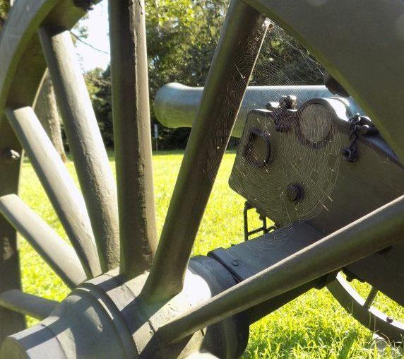 Spider Web & Cannon at Spotsylvania(Fredericksburg & Spotsylvania National Military Park; Photography by Sarah Kay Bierle, 2016.)