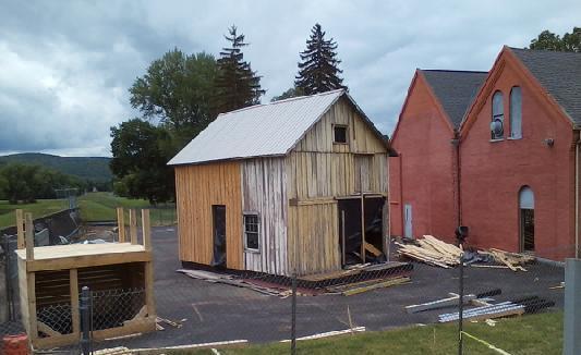 Elmira Prison Camp building