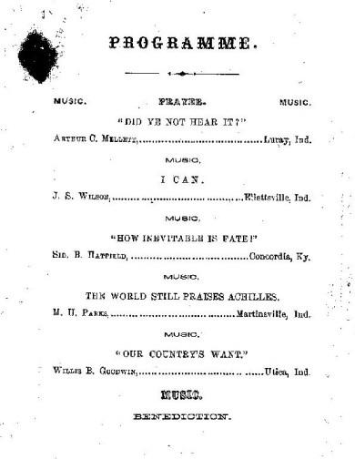 Philomathean list 1862