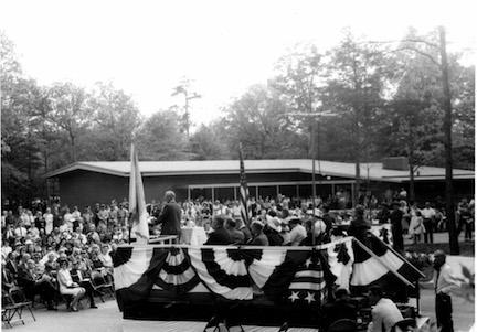 Chancellorsville Visitor Center dedication ceremony