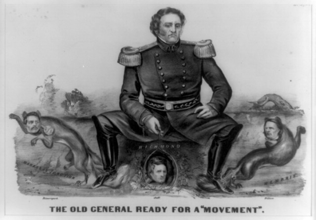 01.03-Winfield Scott Sitting on Confederates Currier and Ives LOC