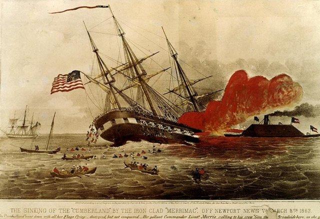 CSS Virginia vs Cumberland