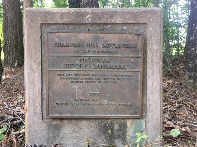 Champion Hill-Historic Plaque