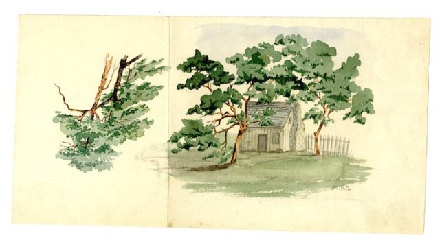 LONG 18791 MKL painting of New Hope Church