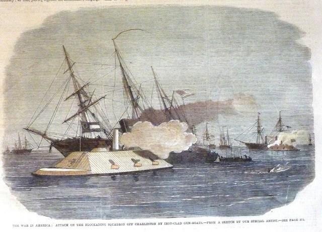 CSS Palmento State strikes USS Mercedita