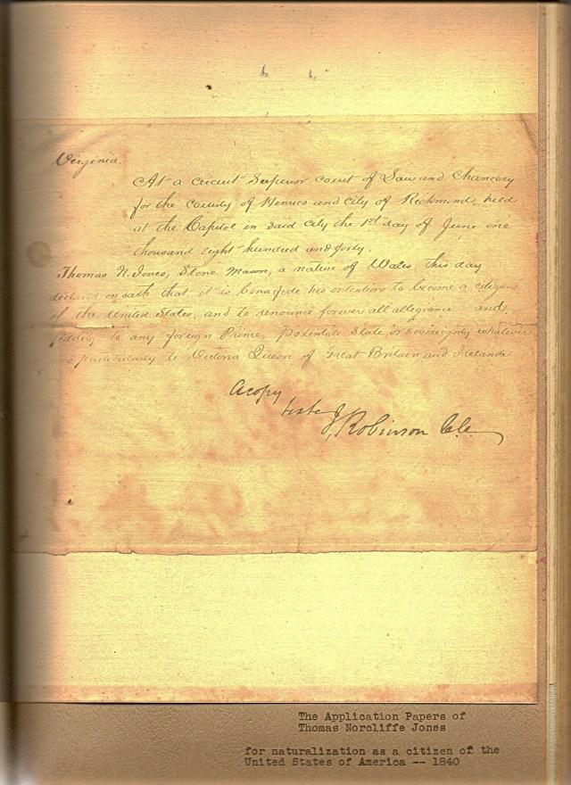 Jones-Naturalization Papers
