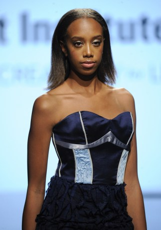 LOS ANGELES, CA - OCTOBER 12: A model walks the runway wearing Malik Vivian at Art Hearts Fashion Los Angeles Fashion The Art Institutes Showcase on October 12, 2016 in Los Angeles, California. (Photo by Arun Nevader/Getty Images for Art Hearts Fashion)