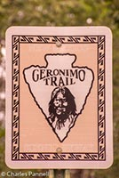 Geronimo Trail road sign