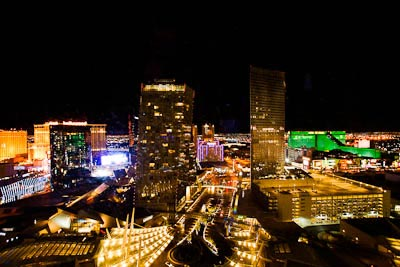 Lights of Las Vegas seen from room 28018