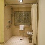 Roll-in shower in room 6113