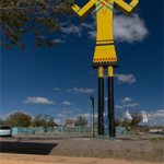The giant kachina in Gallup, New Mexico