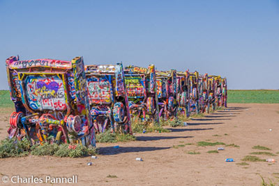 Cadillac Ranch just outside Amarillo, Texas