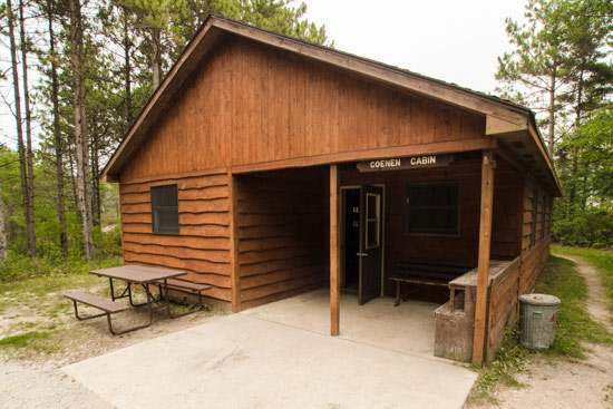 The Coenen Cabin in Point Beach State Forest, Michigan