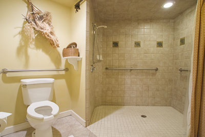 Bathroom in the African Orchid Room