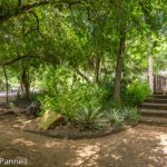 Alternate pathways avoid steps on trails at Quinta Mazatlan