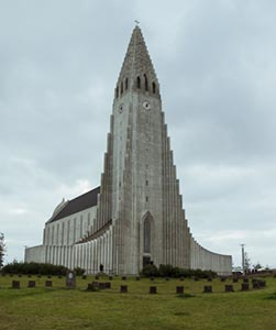 Hallgrimskirkja, the largest church in Iceland