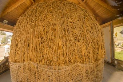 The 8.7 ton, 11 foot tall Darwin twine ball