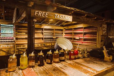 Tasting room at the Ole Smoky Distillery in Gatlinburg, Tennessee