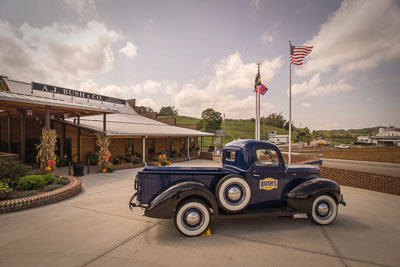 Bush's Visitor Center includes a museum, general store and café