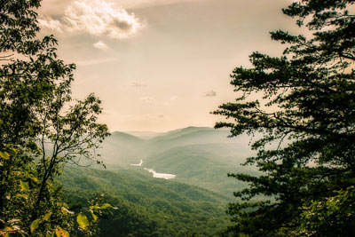 iew from the Pinnacle Overlook at Cumberland Gap National Park