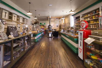 Photo showing the interior of The Crested Butte Mountain Heritage Museum
