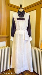 Harvey Girl uniform at the Harvey House Museum in Belen, New Mexico