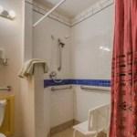 Shower in room 116 at La Posada Hotel