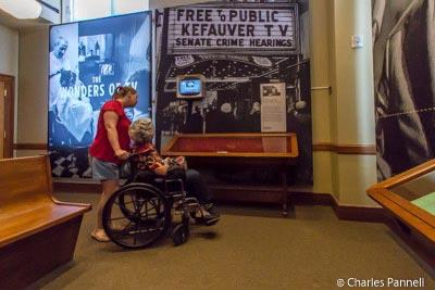 Exhibit in the Mob Museum