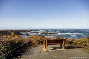 A viewpoint along the Fort Bragg Coastal Trail